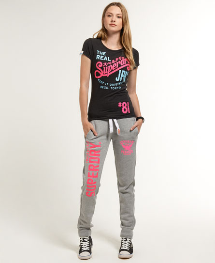 Womens Joggers Showcasing skinny jogger styles with cuffed bottoms and loose fit joggers with super-soft lining.
