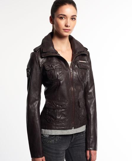 Superdry Roadie jakke i imitert skinn - Dame Skinn