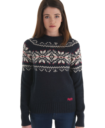 Superdry Rena Fairisle Crew - Women's Sweaters