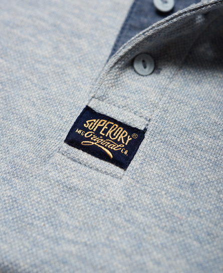 Superdry Heritage Grandad piqué shirt