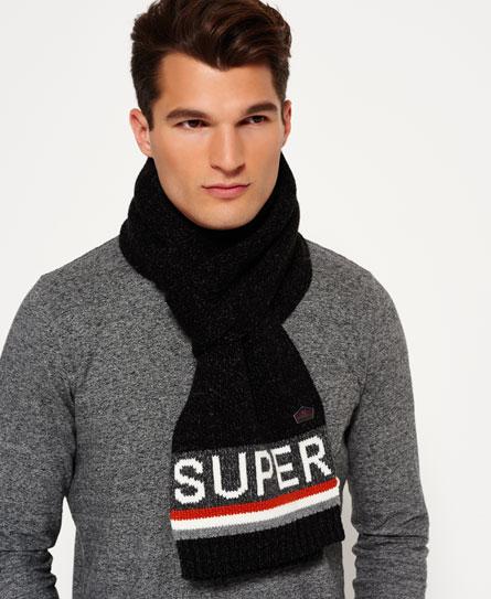 black twist/burnt orange Superdry Super S.D. Logo Scarf