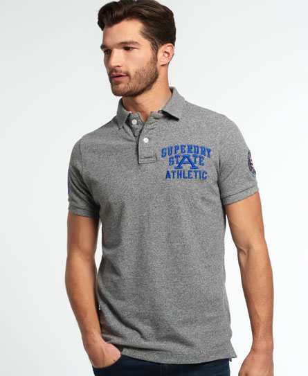 grey marl jaspe Superdry Super State Piqué Polo-Shirt
