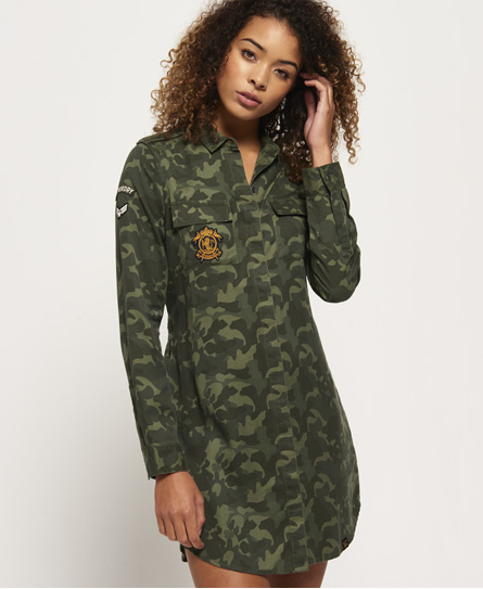 Superdry Vestido camisero Military Amber