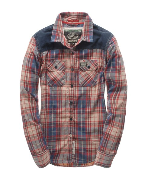 Superdry Estate Flannel Shirt Red