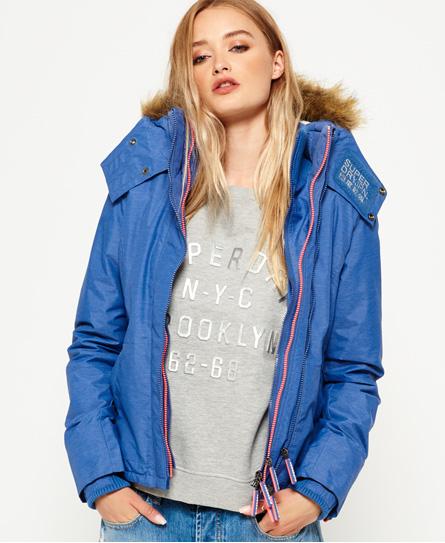 Superdry Fur Sherpa SD-Wind Attacker jas met capuchon