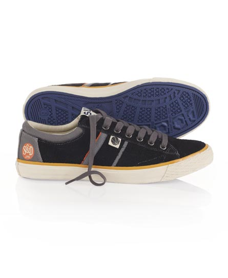 Superdry Hammer Rough Suede Shoes Black