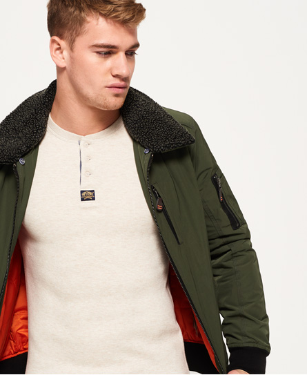 Superdry Wax Flight Borg Bomber Jacket