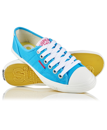 fluro blue canvas Superdry Low Pro Sneakers