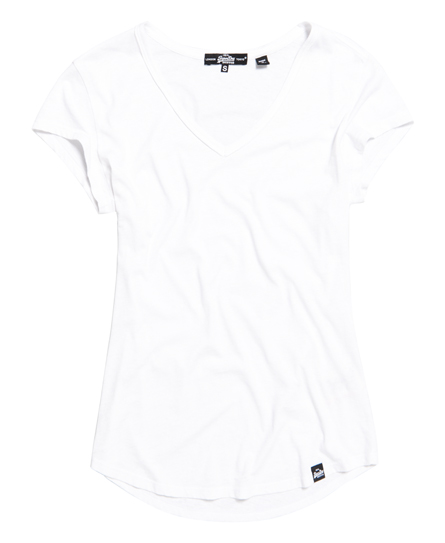 Burnout T-shirt met V-hals