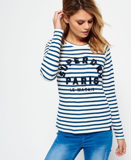 Superdry T-shirt met appliqué en lange raglanmouwen