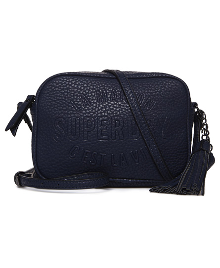navy Superdry Delwen Cross Body Bag