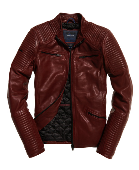 Superdry IE Iconic Leather Racer Jacket