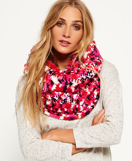 red twist Superdry Spacedye Beatnik snood