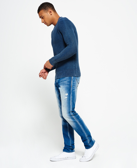 Taps toelopende Biker jeans