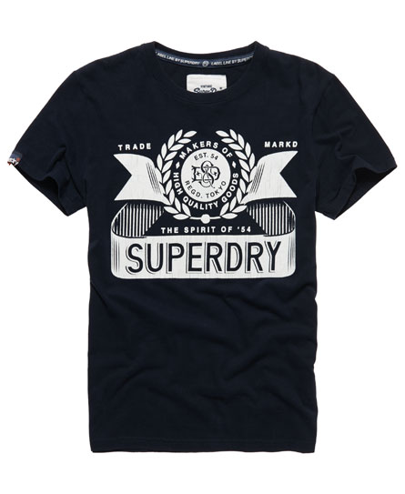 Superdry Nicotine T-shirt Navy