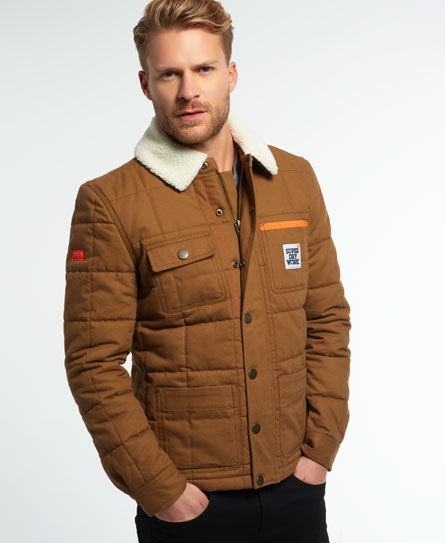 Superdry Giubbotto Redford Marrone