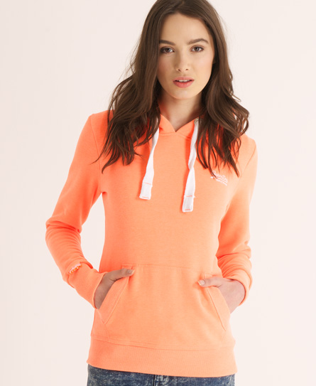 Superdry Orange Label Hoodie Orange