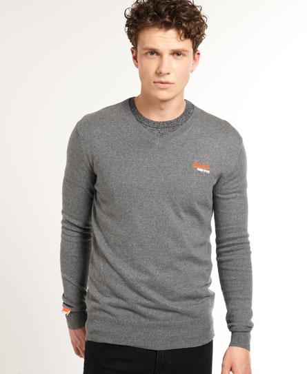Superdry Orange Label V-neck Grey