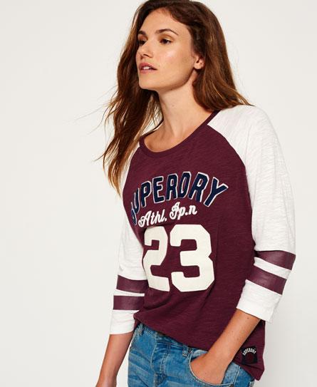 princeton red/winter white Superdry Varsity Shirt mit Applikation