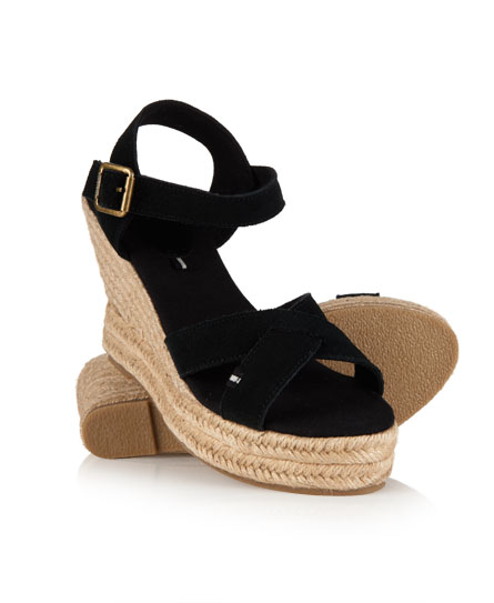 superdry sandalen isabelle mit espadrilles keilabsatz. Black Bedroom Furniture Sets. Home Design Ideas