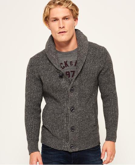 tweed grey twist Superdry Jacob Shawl Cardigan