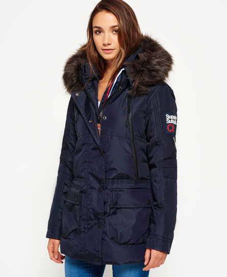 Superdry Canadian Ski Parka Jacket - Womens Superdry Snow