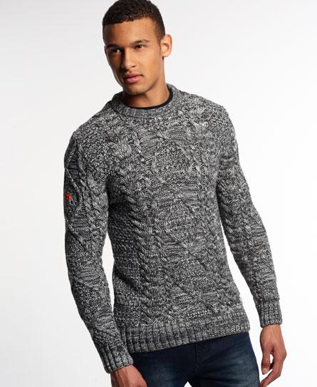 Superdry Black Blizzard Crew Sweater
