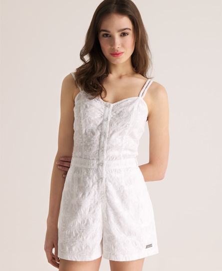 Superdry Navajo Preppy Playsuit White