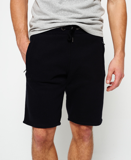 black Superdry Orange Label Urban Jogger Shorts