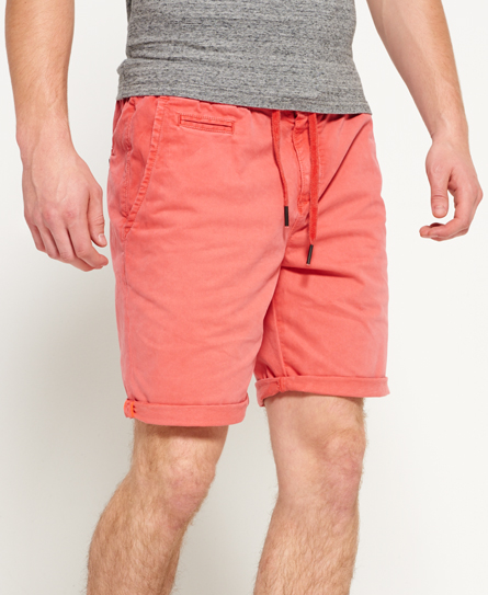 worldwide red Superdry International Sunscorched Beach Shorts
