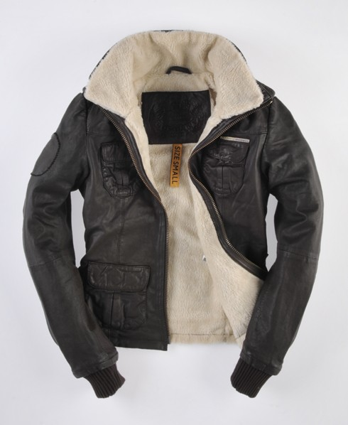 Womens - Ramona Flight Jacket in Brown | Superdry