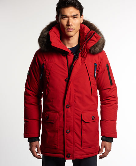Superdry 1st AD Aviator Down Parka Jacket - Mens Idris Jackets and ...