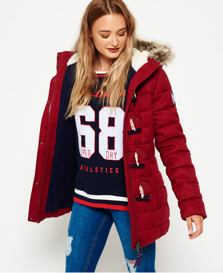 Superdry steppjacke damen rot