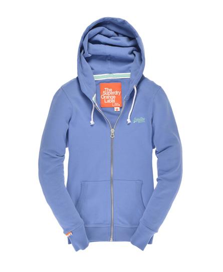 Superdry Lite Zip Hoodie Blue