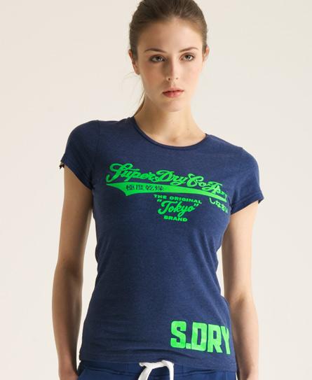 Superdry Tokyo Brand T-shirt Navy