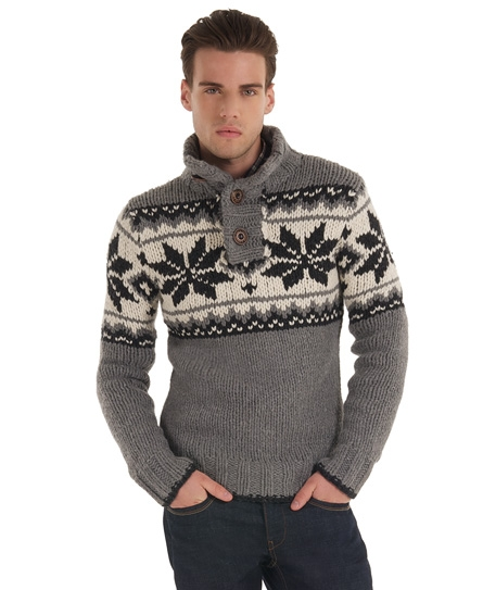 Superdry coxwain henley Light Grey
