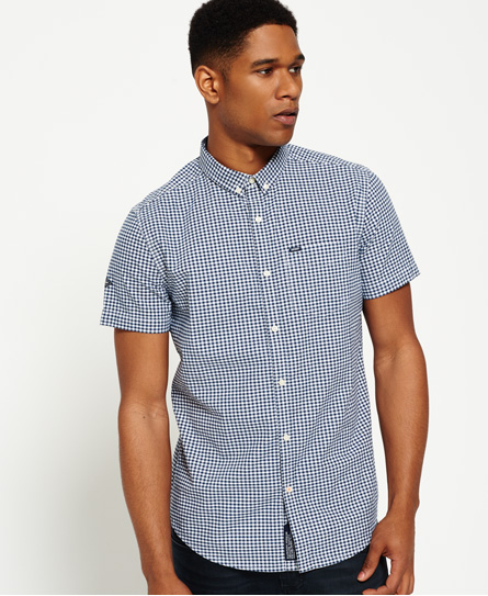 classic navy gingham Superdry Ultimate City oxford-skjorte