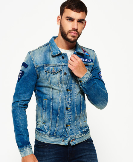 Superdry Rogue Patch Trucker Denim Jacket