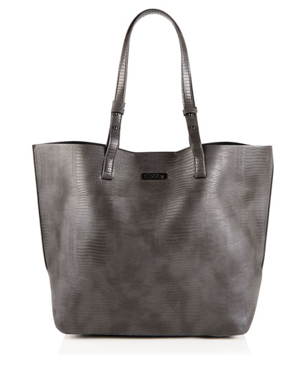 charcoal Superdry Olivia Tote Bag