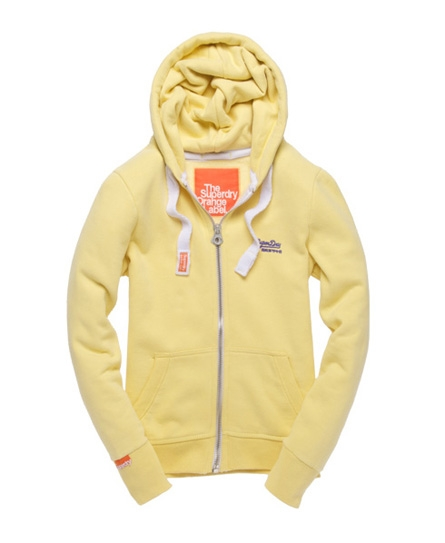 Superdry Orange Label Zip Hoodie Yellow