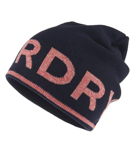 Superdry Reverse Logo Beanie Red