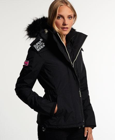Superdry black jacket ladies