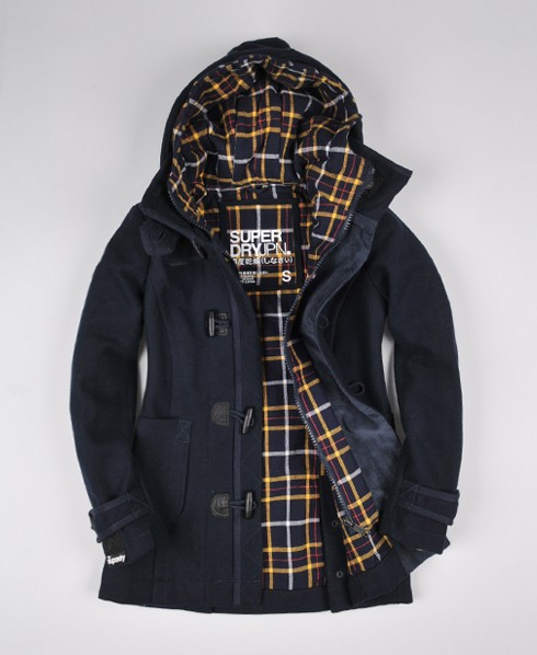 Womens - Double Duffle Jacket in Navy | Superdry