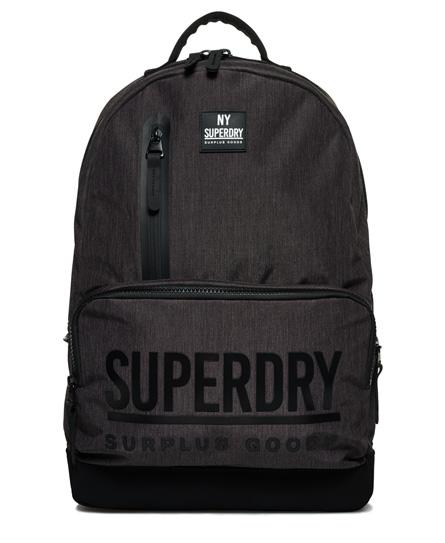 dunkel anthrazit Superdry Surplus Goods Montana Rucksack mit mehreren Reißverschlüssen