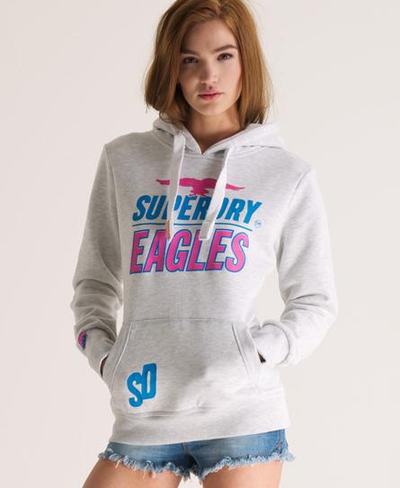 Superdry Red Eagle Hoodie Grey