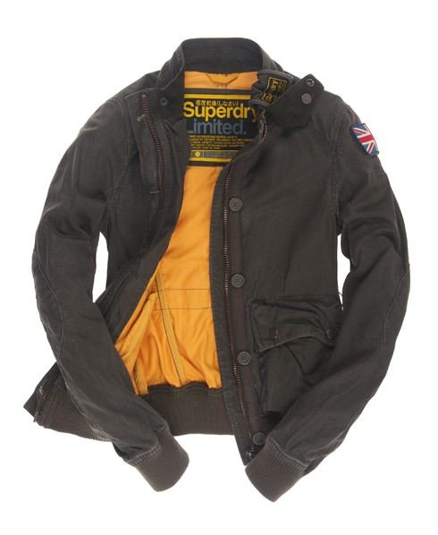 Superdry Trials Bomber Jacket Green