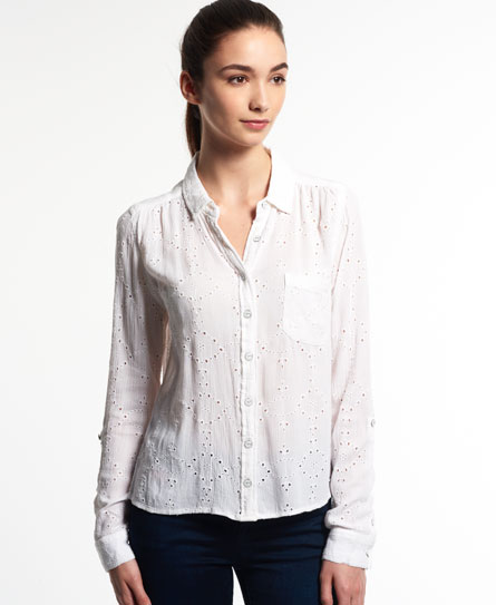 weiss Superdry Shifley Bluse