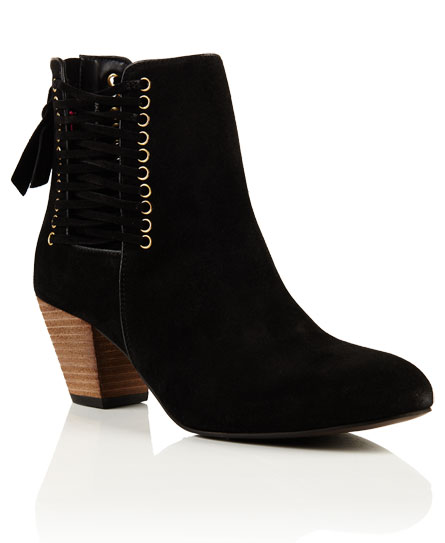 Superdry Siri Lace  Up Boots Black