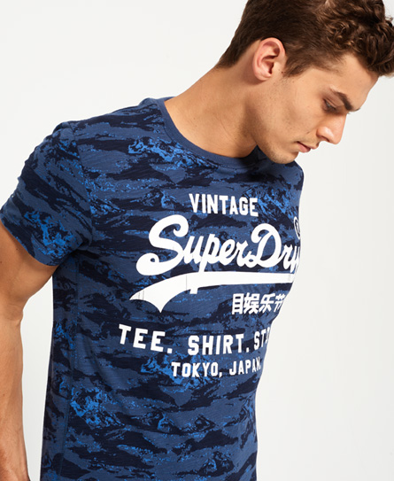 Cheap Outlet Locations Shirt Shop Indigo All Over Print T-Shirt Superdry Buy Online With Paypal Buy Cheap Shop Offer dULzp5t