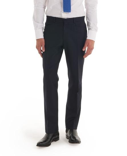 navy herringbone Superdry Bank Robber Suit Trouser